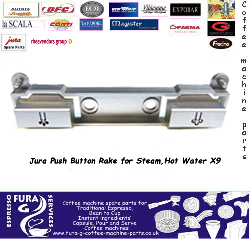 JURA X9 STEAM AND HOT WATER BUTTON RAKE