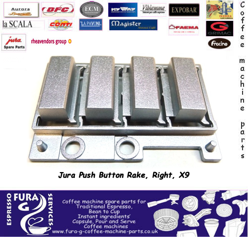Jura x9 push button silver colour plastic button right hand