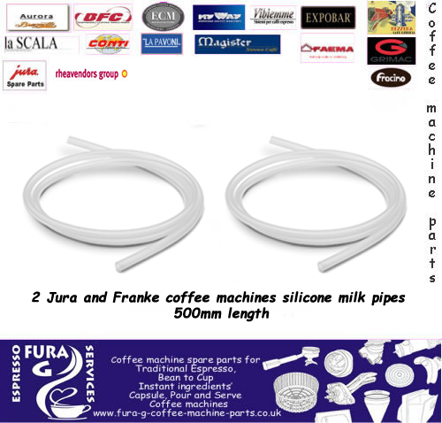 Jura and Franke coffee machines silicone milk pipes 500mm length