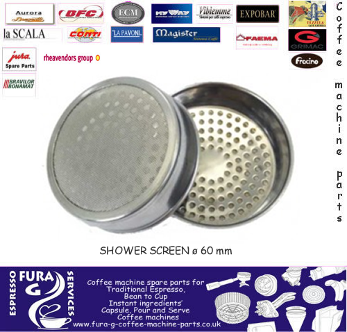 Coffee Machine Group Head Shower Screen - 60 mm