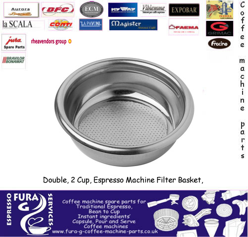 Double, 2 Cup, Espresso Machine Filter Basket, 58mm
