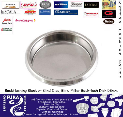 Blind Filter Backflush Disk 58mm
