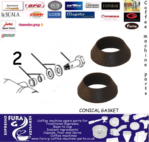 Brasilia Steam Pipe Conical Gasket Coffee Machine Spare Parts