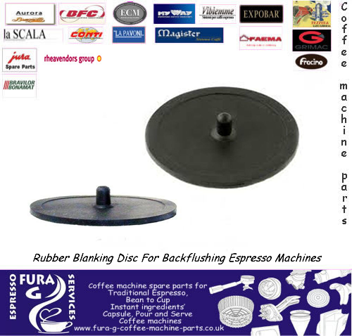Rubber blanking disc - back flush disc