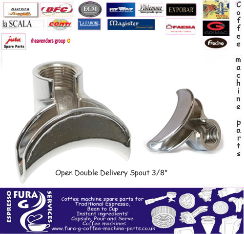 Espresso coffee machine Spout Two-way Ø 3/8""