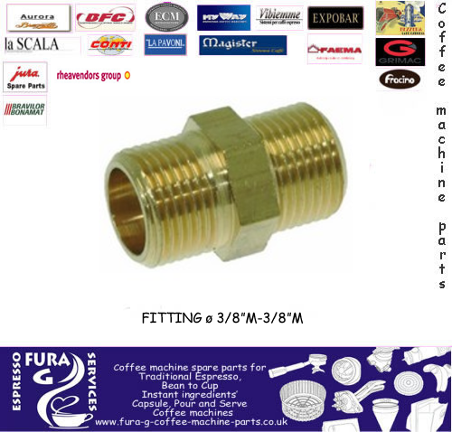 "Pump Adaptor Fitting Ø 3/8"" Male - 3/8"" Male."
