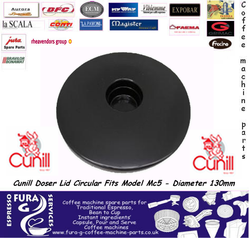Cunill Doser Lid Circular Fits Model Mc5 - Diameter 130mm
