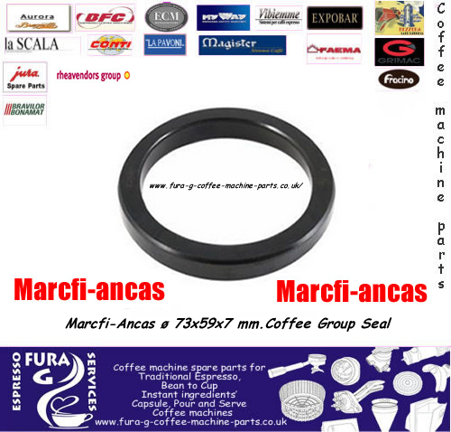 Marcfi-Ancas ø 73x59x7 mm.Coffee Group Seal Gasket