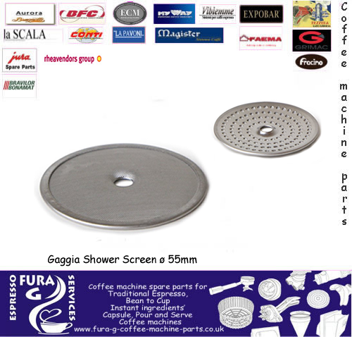 Gaggia Coffee Machine Group Head Filter Shower Plate ø 55 mm