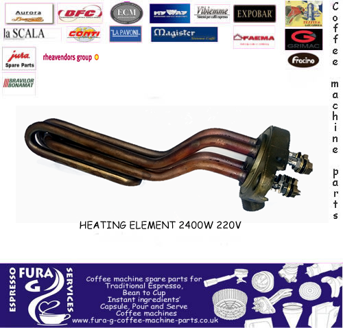 Coffee Machine Heating Element Compact 2400w 220v170 mm - 4 poles - Espresso Coffee Machines