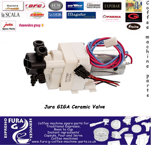 jura giga ceramic valve latest type clip on pipe fitting 12-24v with wire  haness