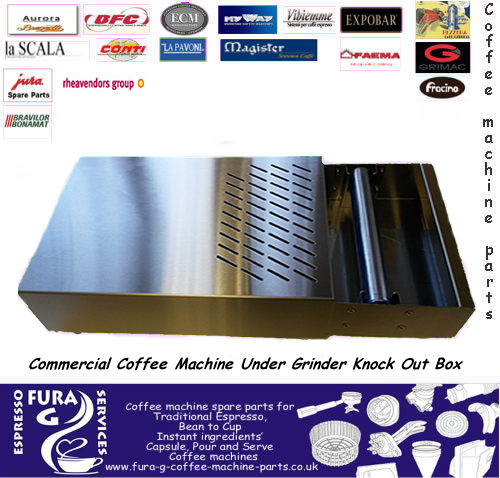 Commercial Coffee Machine Under Grinder Knock Out Box
