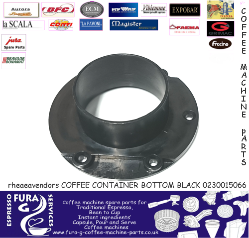 COFFEE CONTAINER BOTTOM BLACK 0230015066