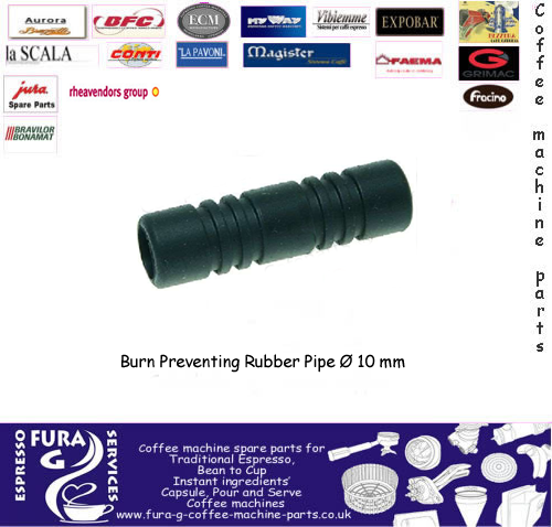 Steam arm burn prevention rubber ø 10 mm Finger Guard