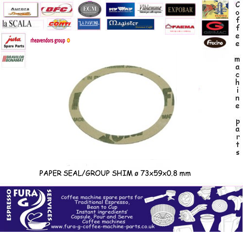 E61 Group Gasket Paper Shim ø 73x59x0.8 mm