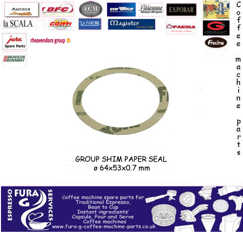 GROUP SHIM PAPER SEAL ø 64x53x0.7mm