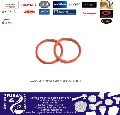 Jura piston ring seals for the ENA brew group