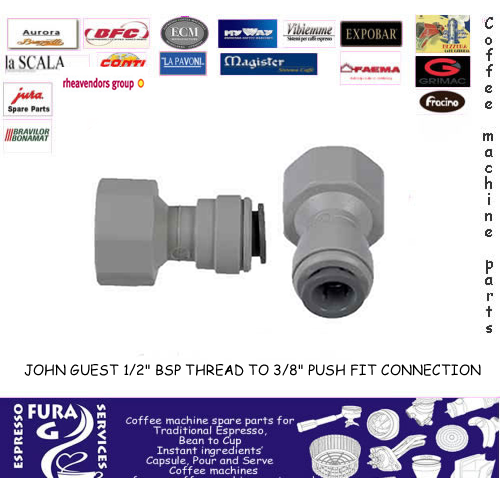 "JOHN GUEST 1/2"" BSP THREAD TO 3/8"" PUSH FIT"
