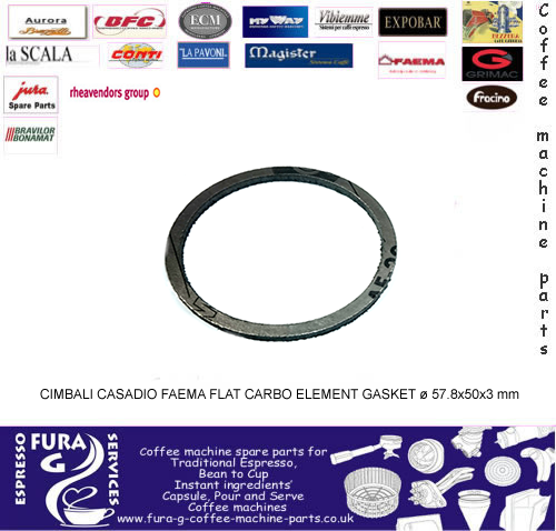 Cimbali Element FLAT CARBO GASKET ø 57.8x50x3 mm