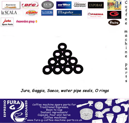 JURA Coffee Machine Water PIPE O RING SEALS