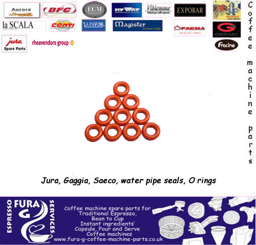 JURA PIPE O RING SEALS BUTYL
