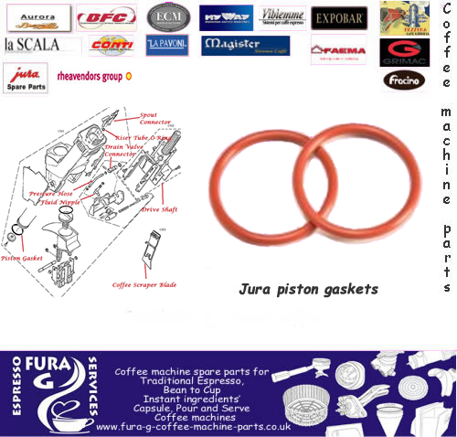 Jura piston ring seals for the brew group