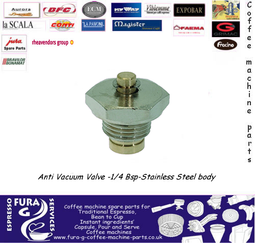 ANTI VACUUM VALVE -1/4 BSP-STAINLESS STEEL
