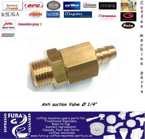 "Coffee machine external anti vacuum valve 1/4"" bsp"