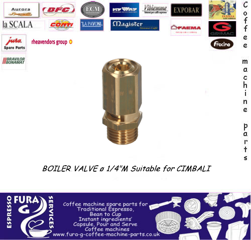 "Brass Boiler Safety Valve Ø 1/4"" BSP"