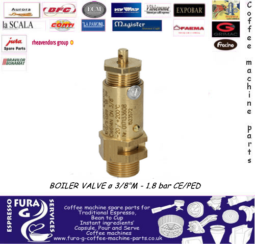 "3/8"" BSP BOILER SAFETY VALVE CERTIFIED1.8 bar"