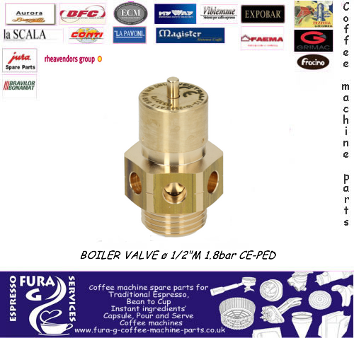 "1/2"" BSP BOILER SAFETY VALVE (CERTIFIED)1.8 bar"