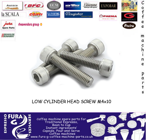 Stainless Steel -Group Valve Screw- m4 x 12mm - Cap Head. Stainless