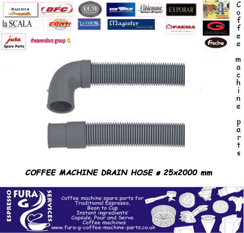 Coffee machine drain pipe / hose 2m