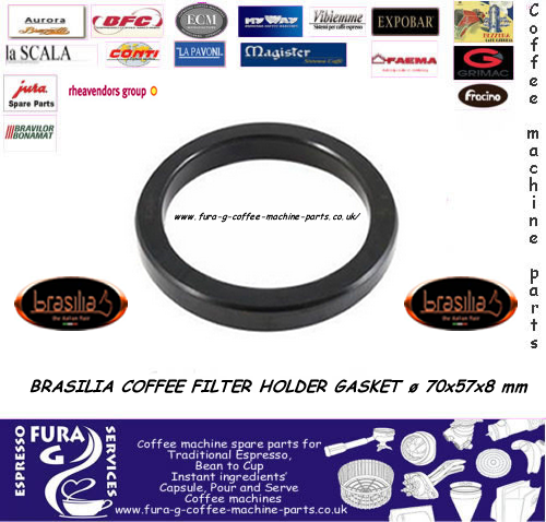 BRASILIA COFFEE FILTER HOLDER GASKET ø 70x57x8 mm