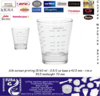 Lined Shot Glass 1oz & 2oz-30ml and 60ml