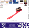 Wire brush for coffee machine maintenance