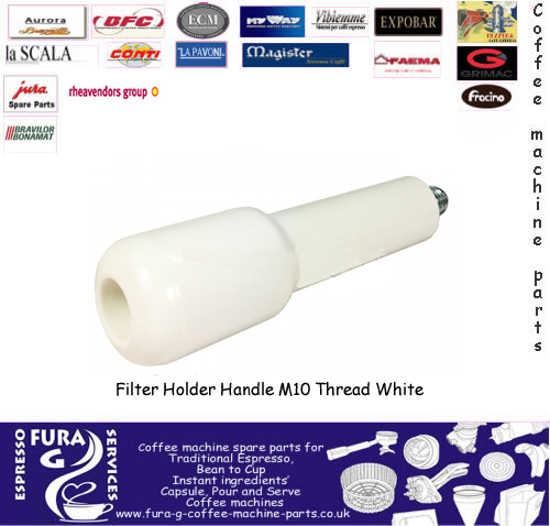 Filter Holder Handle M10 Metric Thread - White Handle