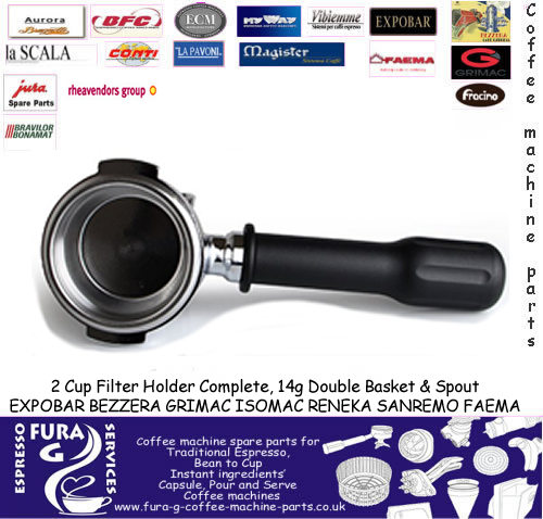 Expobar / Faema,  2 Cup Group Handle Complete 14g