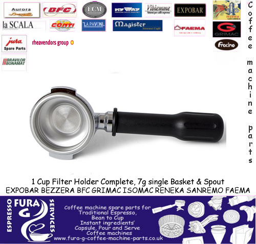 Expobar / Faema 1 Cup Group Handle Complete 7g