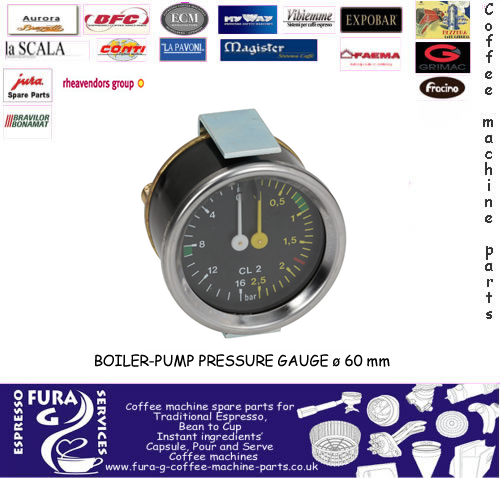 Horizontal Boiler-Pump Pressure Gauge 60mm
