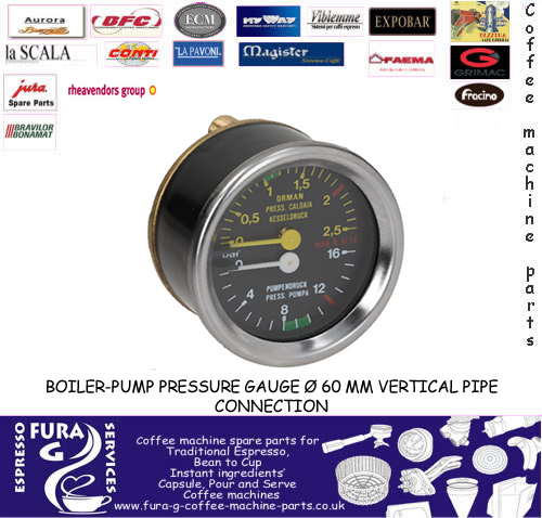 VERTICAL PRESSURE GAUGE DUAL - 60MM