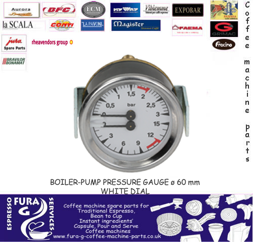 VERTICAL PRESSURE GAUGE DUAL - 60MM WHITE FACE