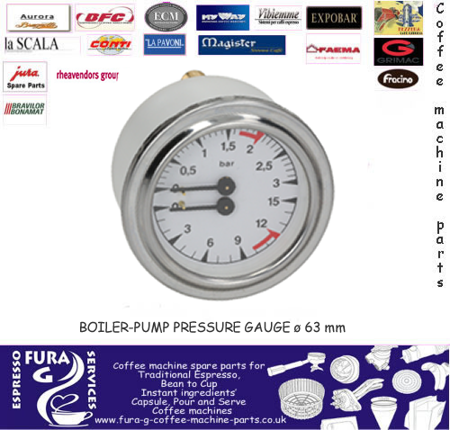 VERTICAL San Marco 63mm Pressure Gauge
