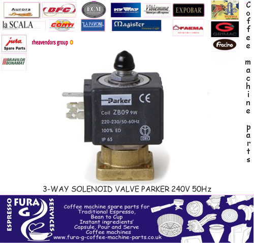 Espresso coffee machine Three-way  - Parker Solenoid valve 240V 50/60Hz