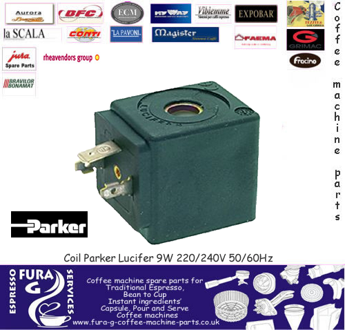 Parker Lucifer 240v Dz06 9w 3 Way Solenoid Valve Coil Only For Coffee Machine