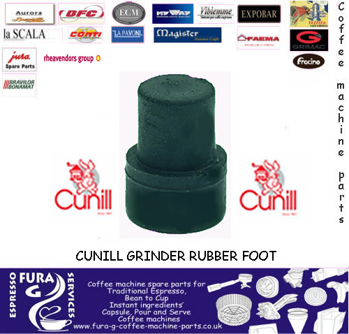 Cunill Grinder Rubber Foot Push On Fitting