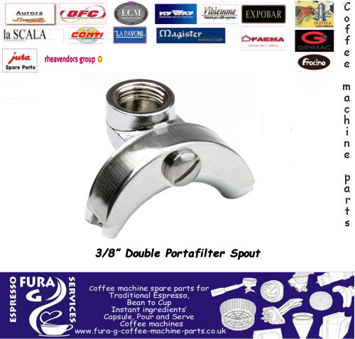 Double Portafilter Spout  3/8""
