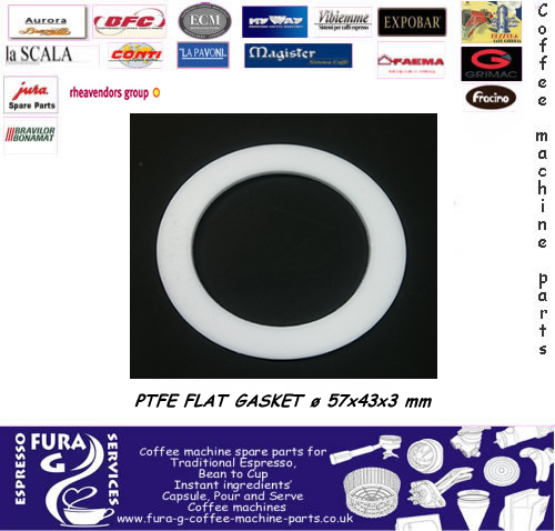 ELEMENT PTFE FLAT GASKET ø 57x43x3 mm