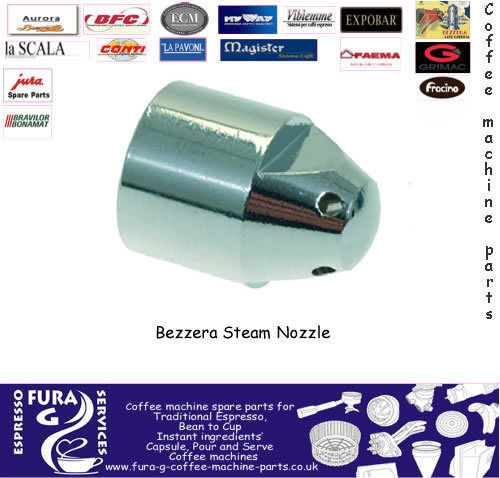 Chrome Plated Steam Nozzle for Bezzera