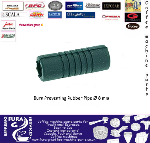 Steam arm burn prevention rubber ø 8 mm